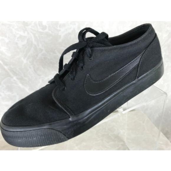 NIKE Toki Low Black Canvas Sneakers Mens 7.5